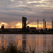 Industrial sunset by onewing