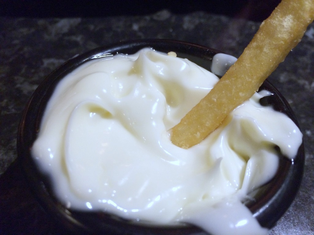Chips with mayo? Those crazy Europeans! mmm by bizziebeeme