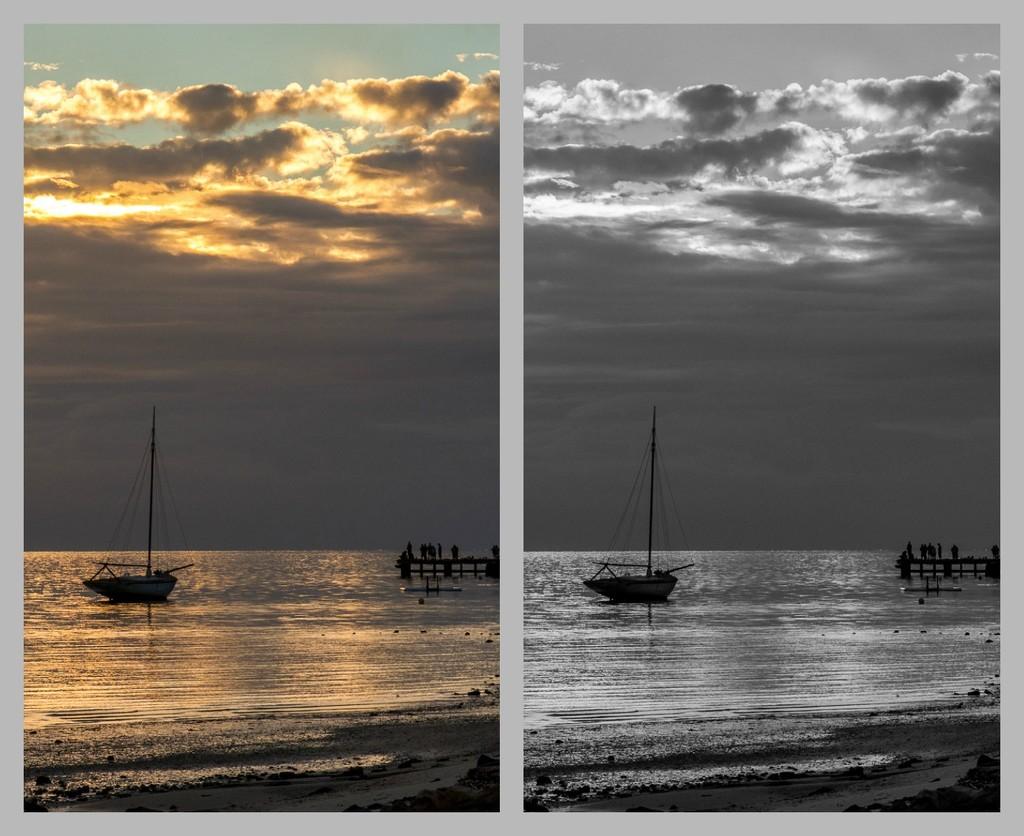 Sunset over Shark Bay by gosia