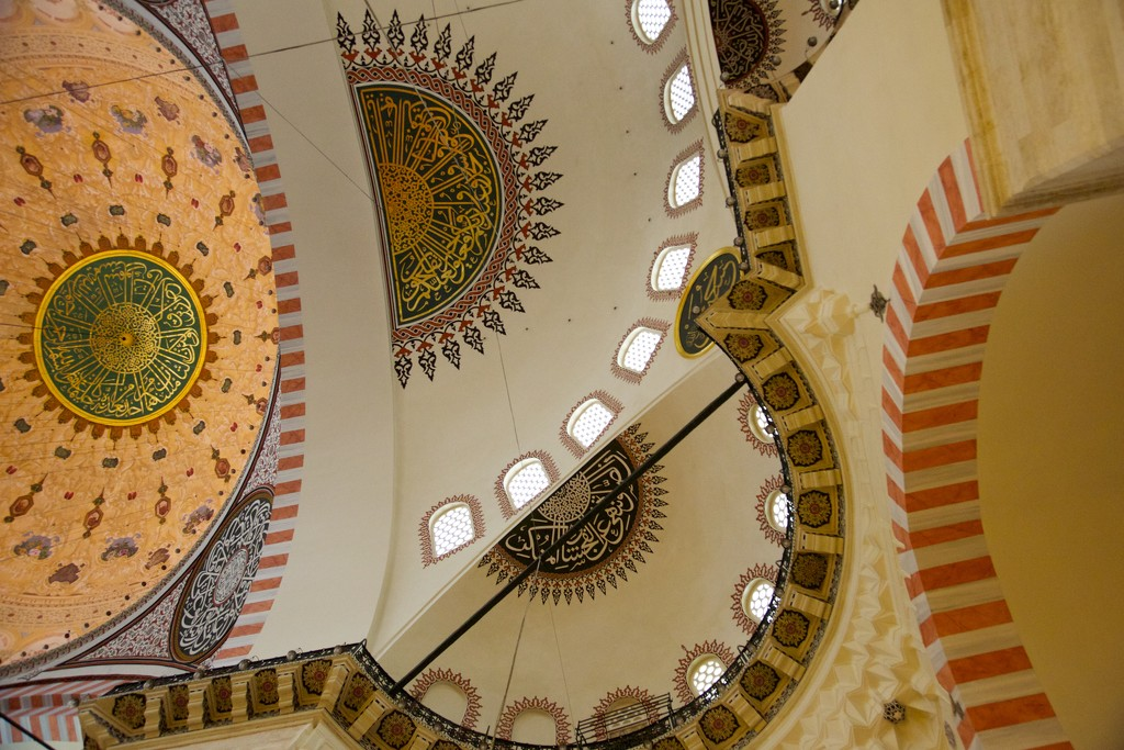 Ceiling patterns, Suleymaniye Mosque, Istanbul by padlock