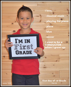 4th Sep 2014 - I Have a First-Grader!