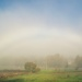 Under the misty rainbow