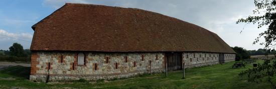 Titchfield Abbey: a panorama of the barn by quietpurplehaze