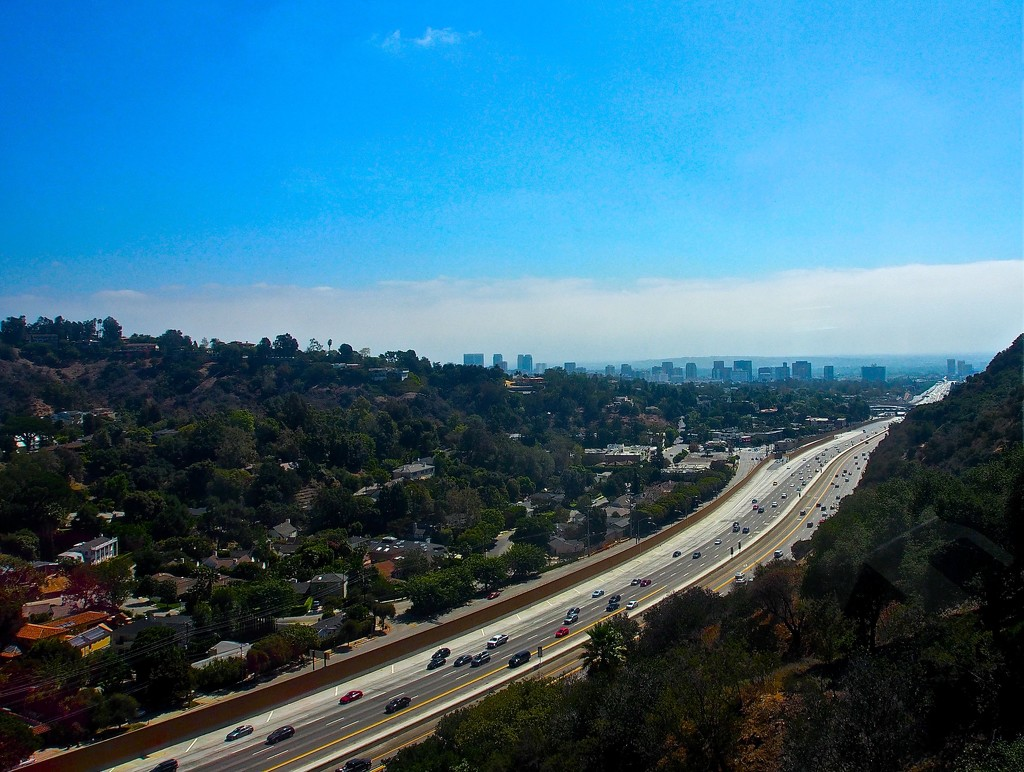 On a clear day, you can see a long way down the 405 by redy4et
