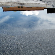 27th Sep 2014 - cloud reflections on an empty parking lot