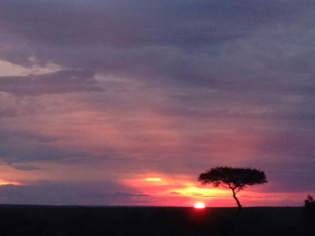 Sunset over the Masai Mara by pusspup