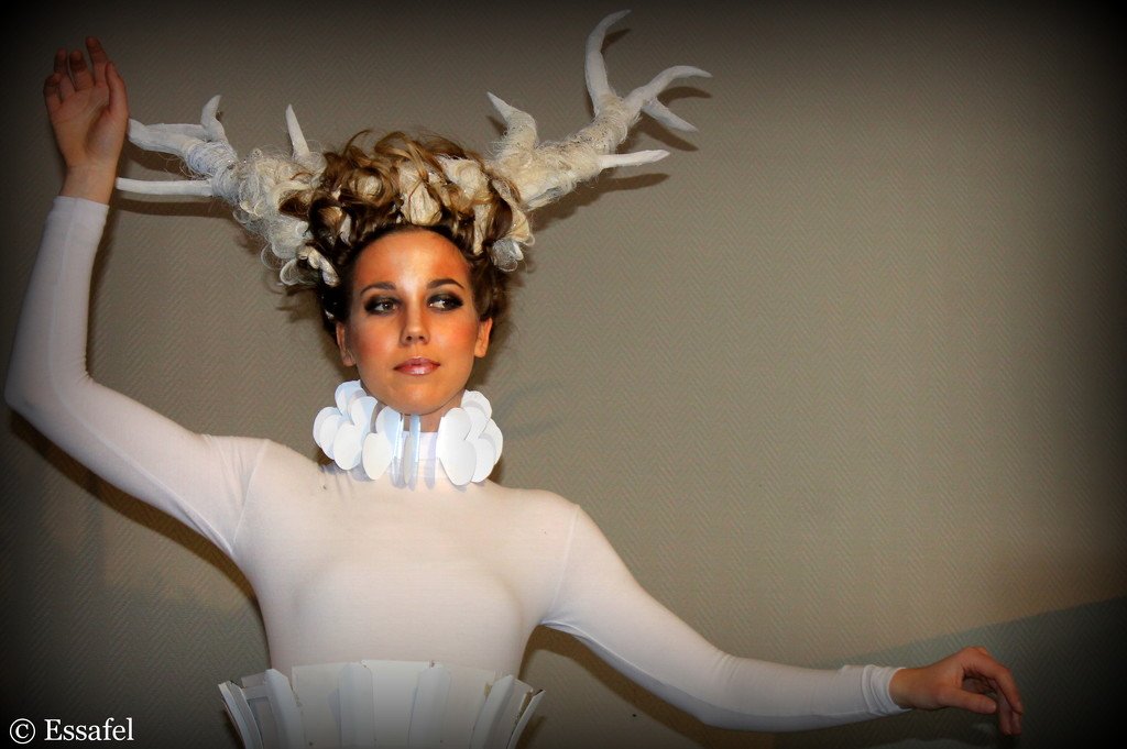 20141006 WOW - Woman with Antlers by essafel