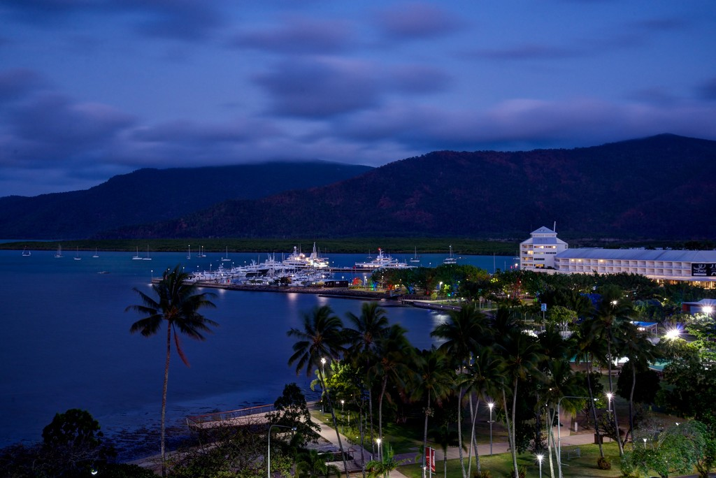 Blue Hour Over Cairns Harbor by taffy