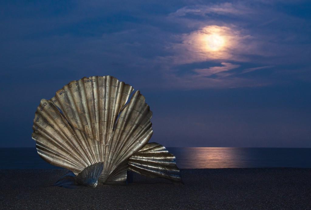 Aldeburgh's scallop at night by dulciknit