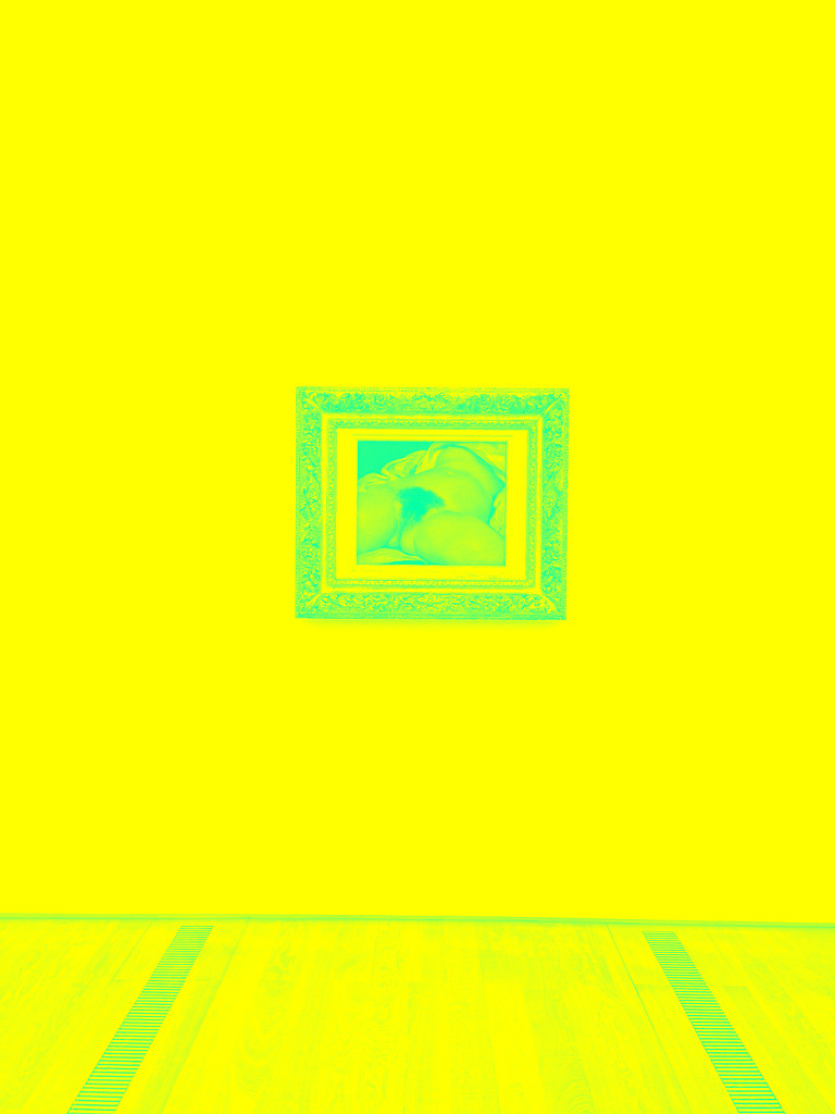 L'origine du monde, Gustave Courbet. Yellow Warholisation version by cocobella