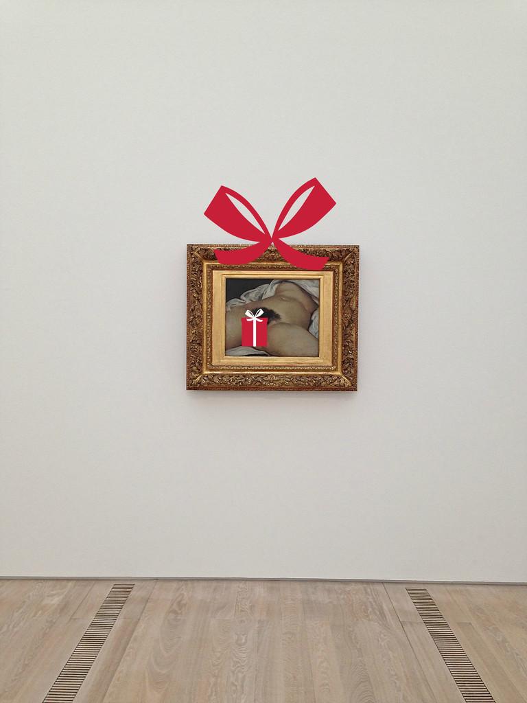 L'origine du monde, Gustave Courbet. Present version by cocobella