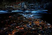 1st Nov 2014 - Filtered Sunlight, River, Rocks and Leaves
