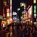 Shibuya at night.  by cocobella
