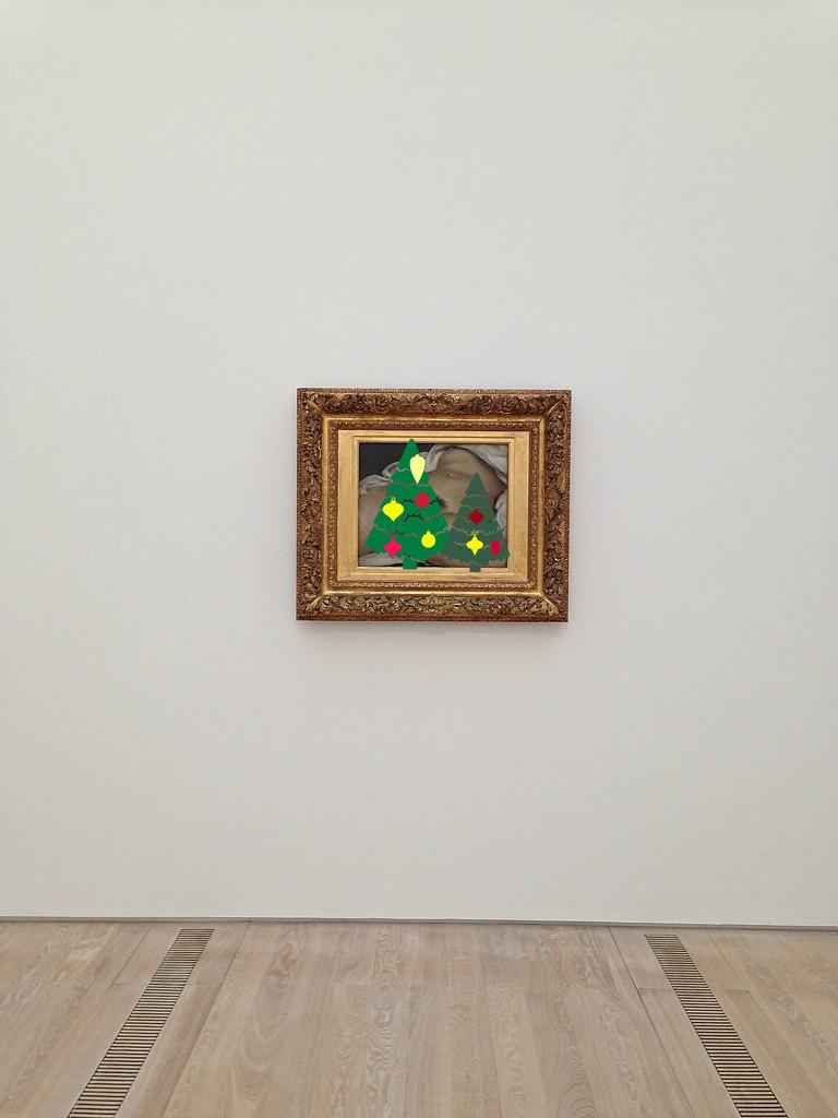 L'origine du monde, Gustave Courbet. Christmas version by cocobella