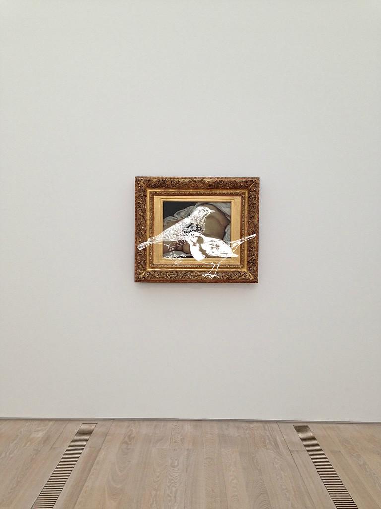 L'origine du monde, Gustave Courbet. White birds version by cocobella
