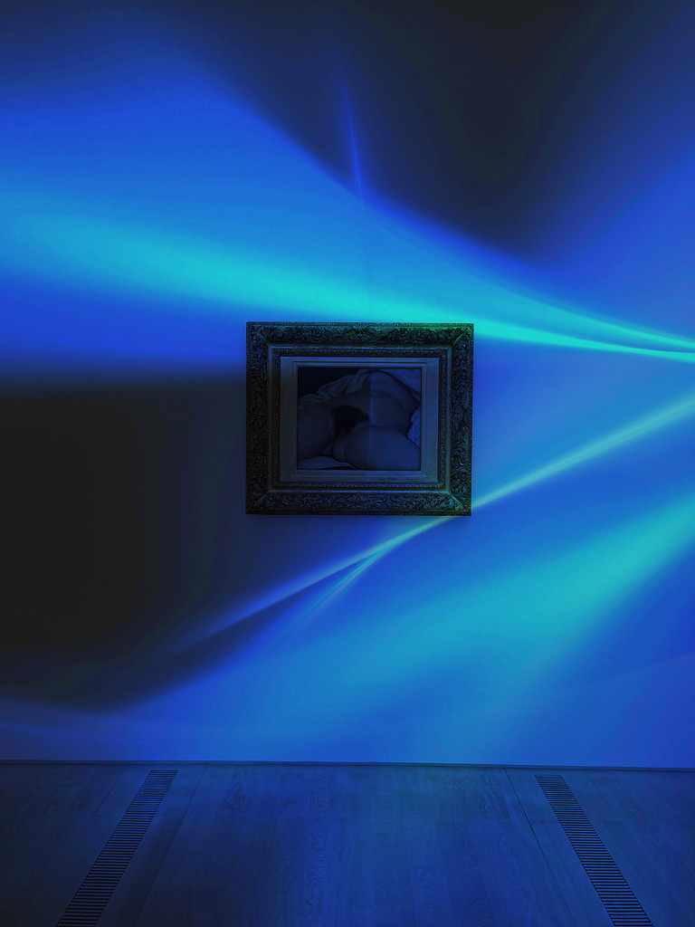 L'origine du monde, Gustave Courbet.Blue vibes version. by cocobella