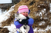 9th Nov 2014 - Tirzah with a kitty