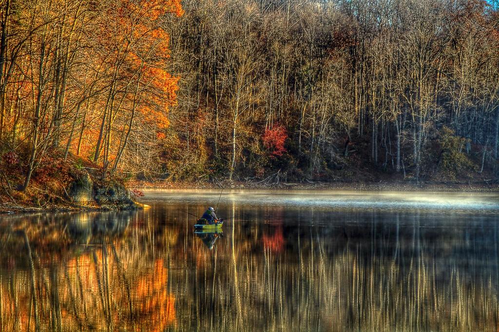 Floating Fall Fisherman by sbolden