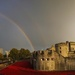 Day 312, Year 2 - Double Rainbow Over Blood Swept Land And Seas of Red by stevecameras