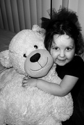 13th Nov 2014 - Miss Violet and her Bear!