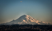 15th Nov 2014 - Plane over Rainier