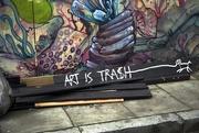19th Nov 2014 - Art is Trash, literally street art