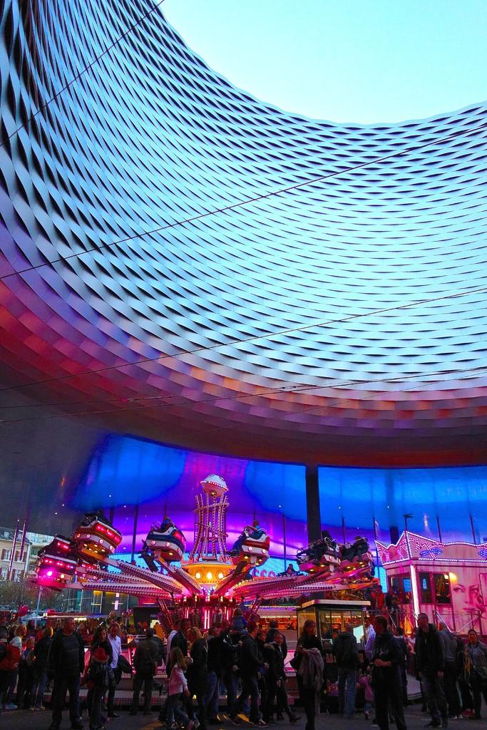 Funfair at Messeplatz. by cocobella