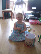 1st Dec 2014 - Zoe Treagus playing with Blocks!