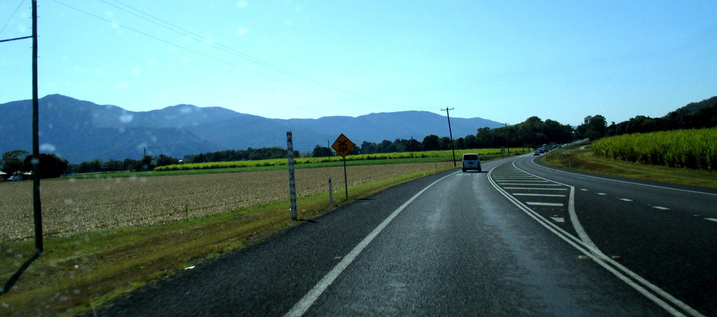 Driving South from Cairns into Sugar cane country by 777margo