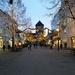 Christmas lights in pedestrian street by elisasaeter