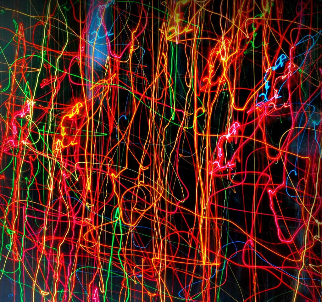 Christmas Light Silly String by alophoto