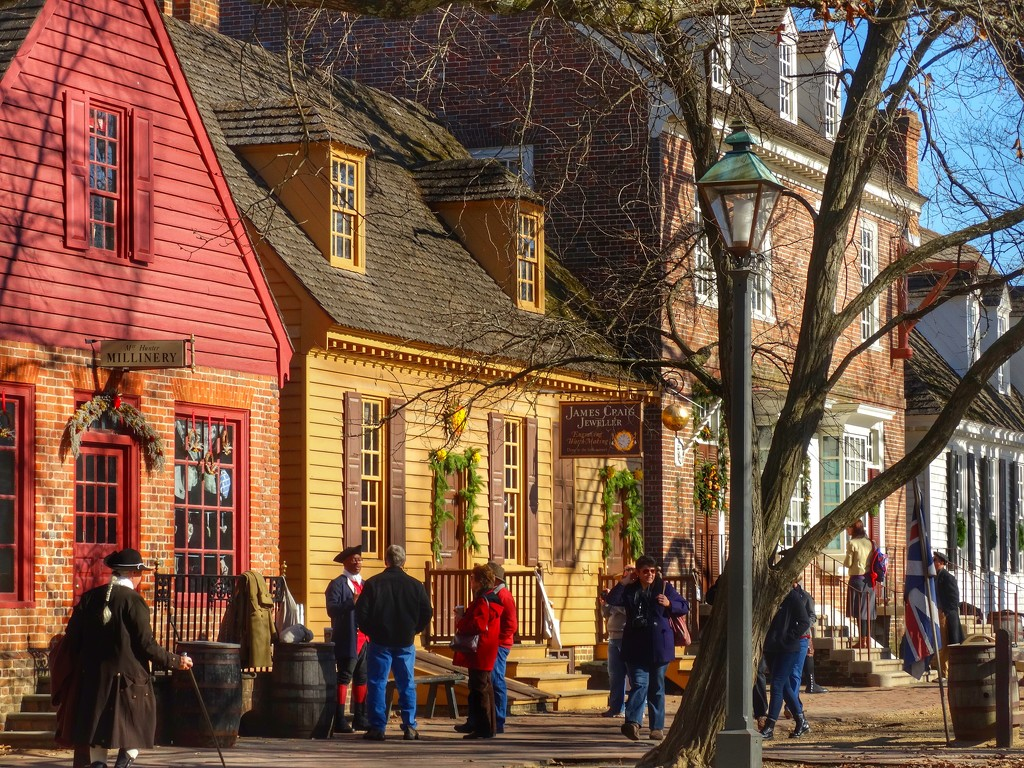 Colonial Williamsburg at Christmas by khawbecker