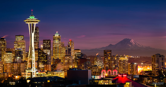 Seattle Sunset by abirkill