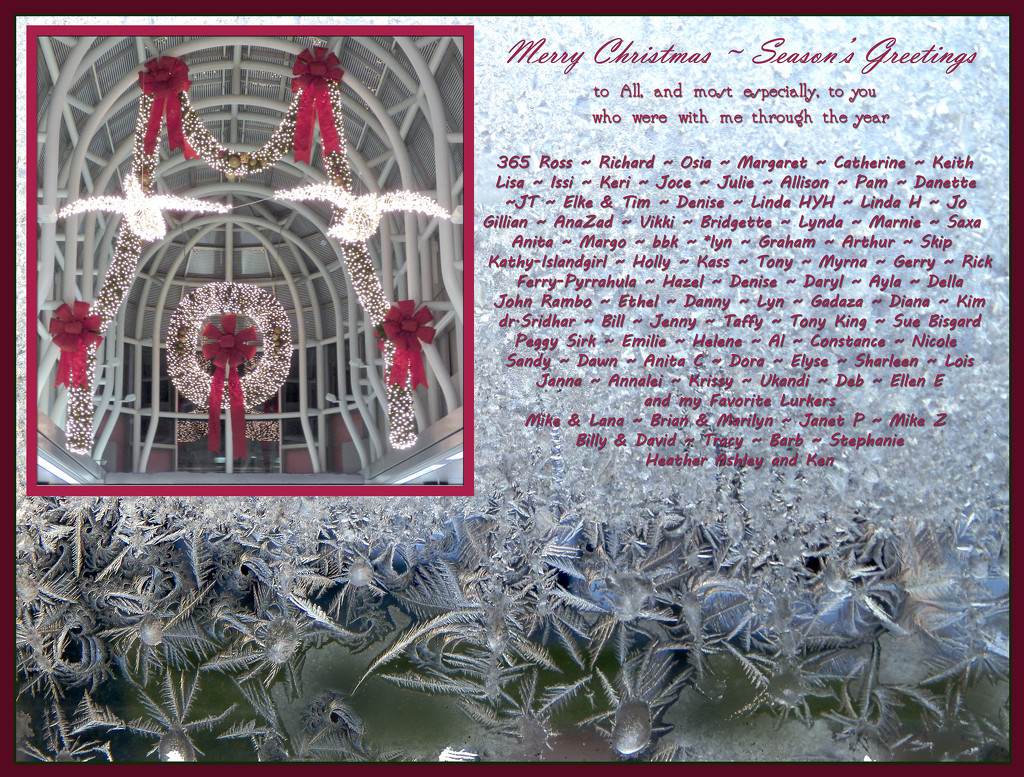 A Christmas e-card to My Friends on 365 by Weezilou
