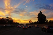 16th Dec 2014 - Sunset on the highway...