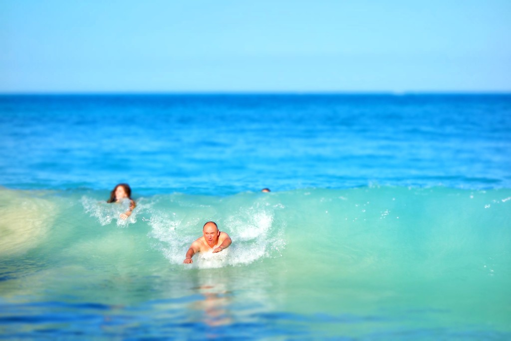 Surfing without board by cocobella