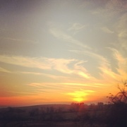 21st Dec 2014 - Sunset on the way home from Pittsburgh