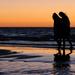 Sunset beach walk by flyrobin
