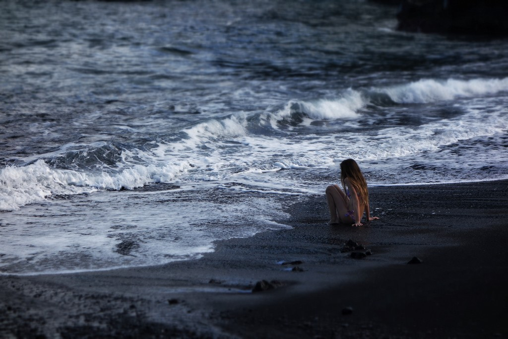 On the black beach. by cocobella