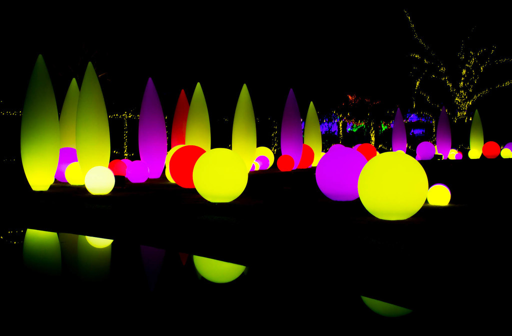 Atlanta Botanical Garden Holiday Orbs by darylo