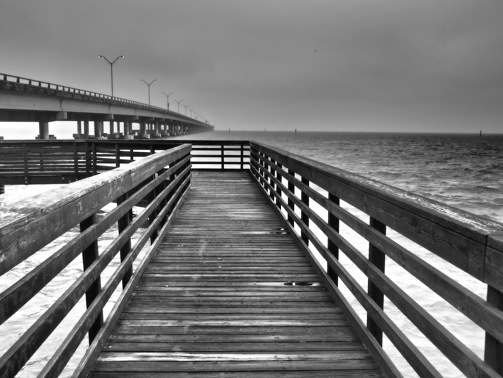 Jetty and Causeway by rosiekerr