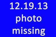 19th Dec 2013 - Missing Photo