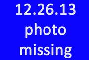 26th Dec 2013 - Missing Photo