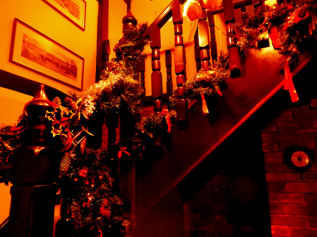 Deck the halls  with with boughs of holly.  by snowy