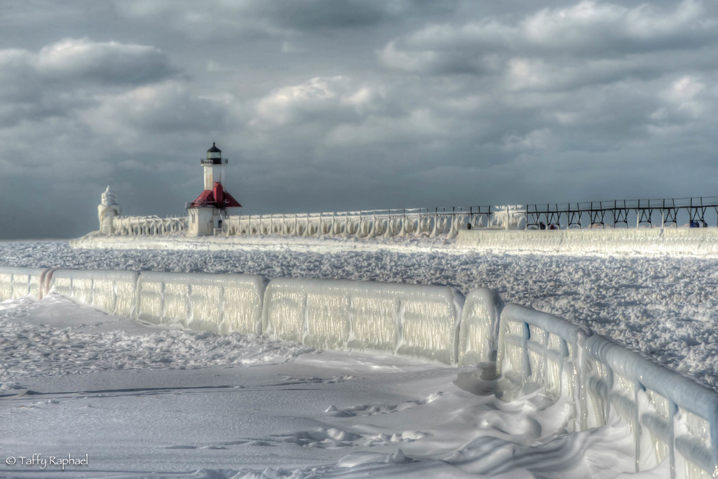Lighthouse Waits for Summer by taffy