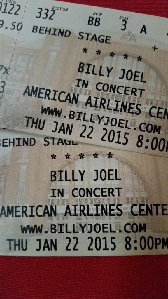 Billy Joel Tickets!! by judyc57
