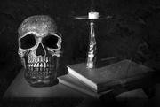 26th Jan 2015 - skull, book and candle
