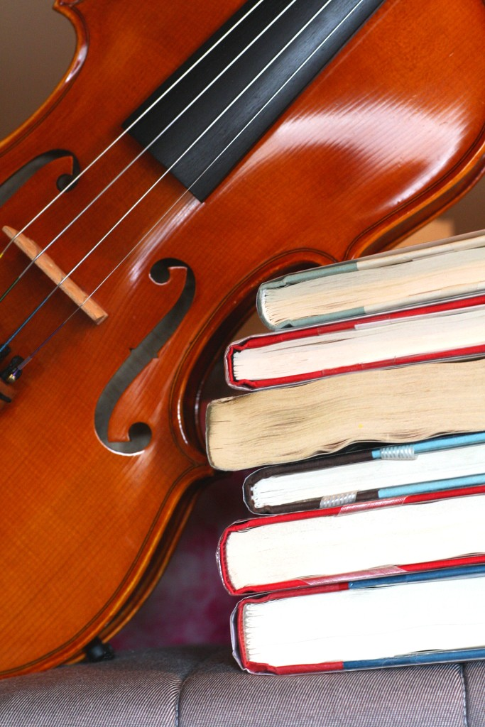 Books and Violin by sarahlh