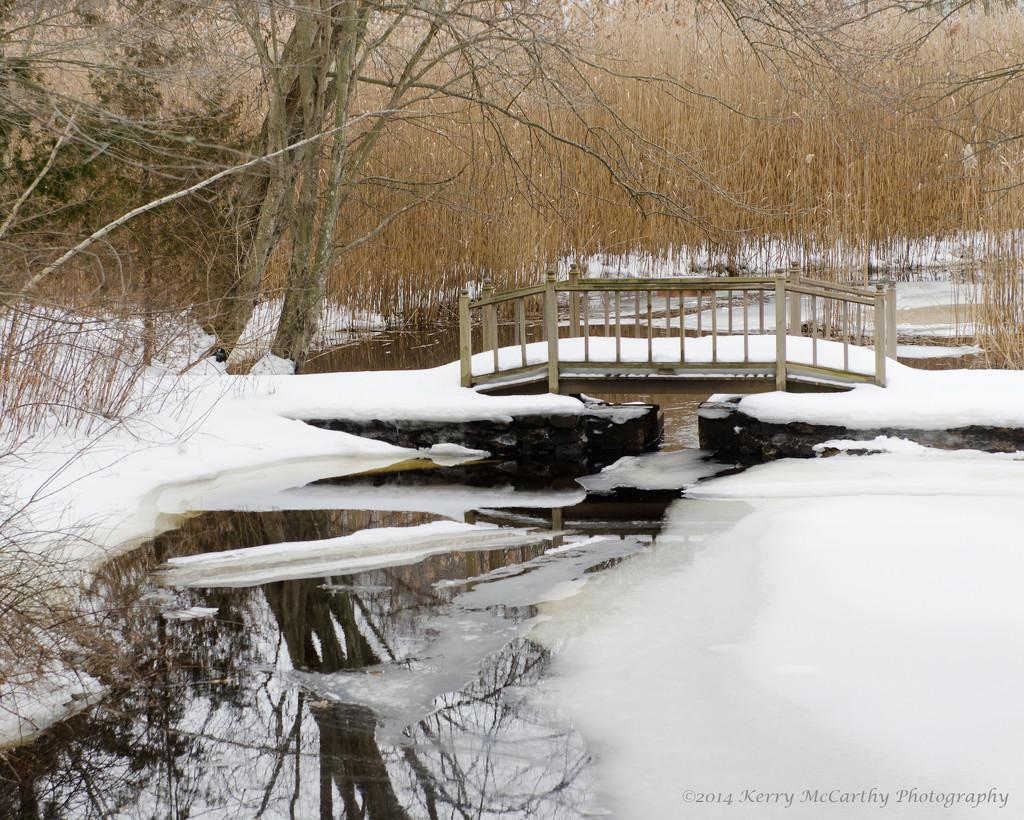 Snowy bridge by mccarth1