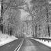 Winter road by mittens